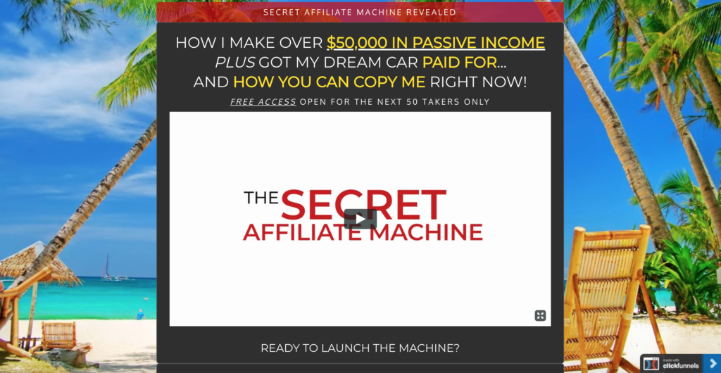 The Secret Affiliate Machine Review