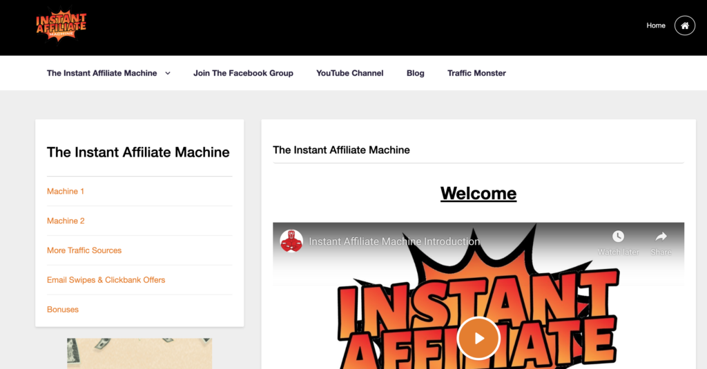 The Instant Affiliate Machine Review